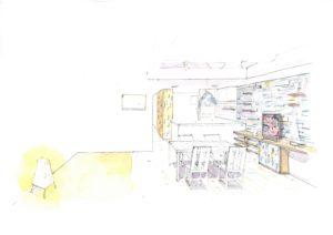 天然素材リフォームのマンション。漆喰と無垢材を使う